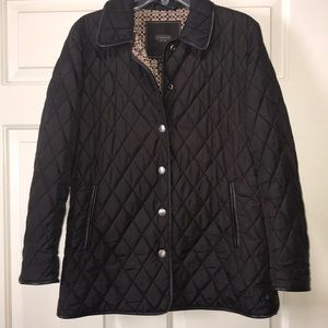 Coach brown quilted  jacket size small